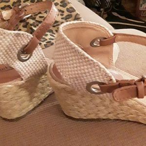"Lucky Brand ""Kyndra"" Rope Braided Sandals, Sz 7.5"